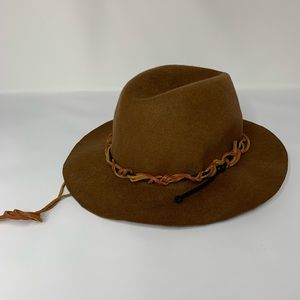 Tan Wool Bohemian Braided Hat